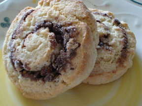 Nutella &amp; Pecan Swirl Biscuit Buns