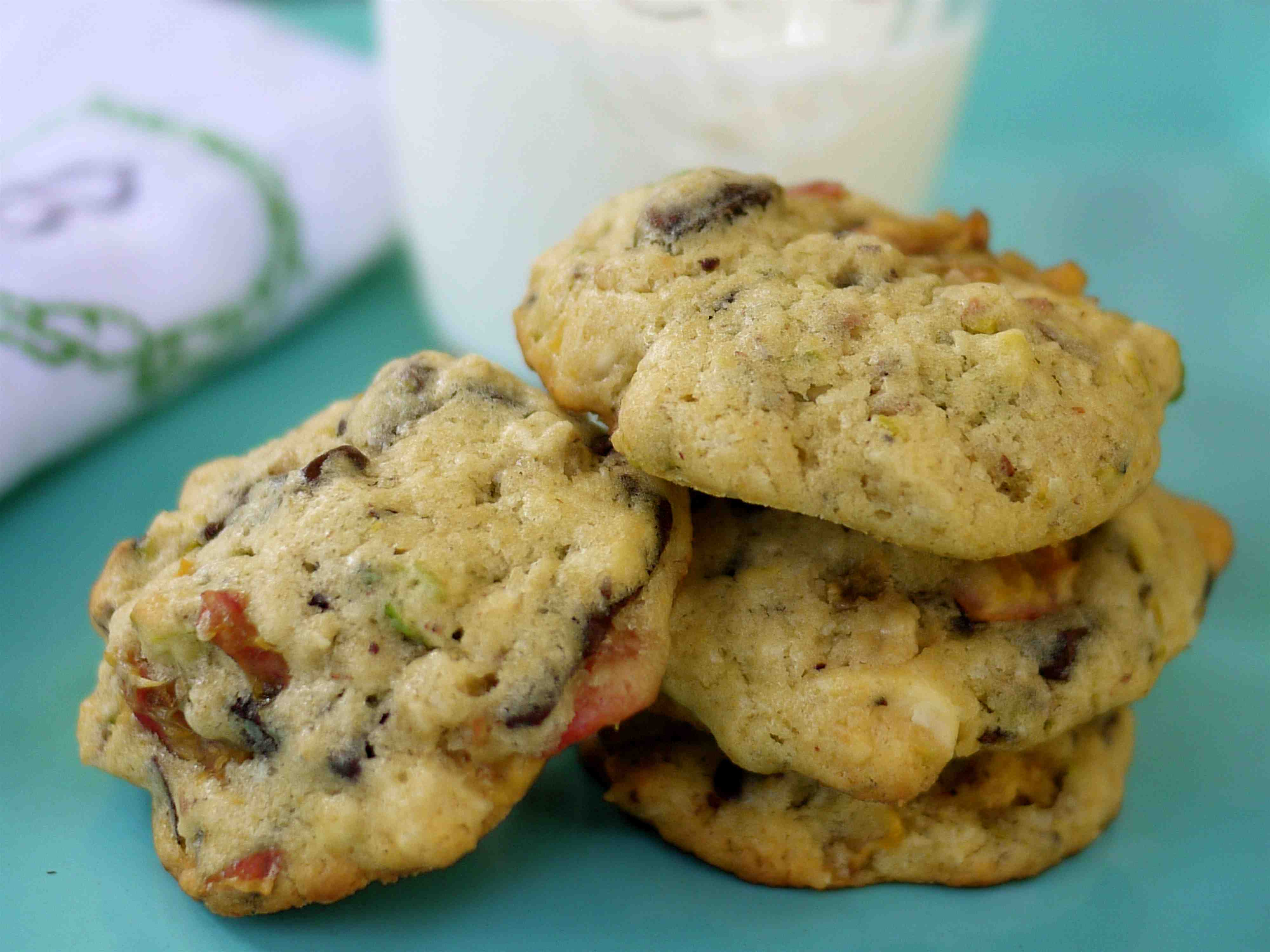 Kitchen sink cookies (cherry, chocolate and pistachio)