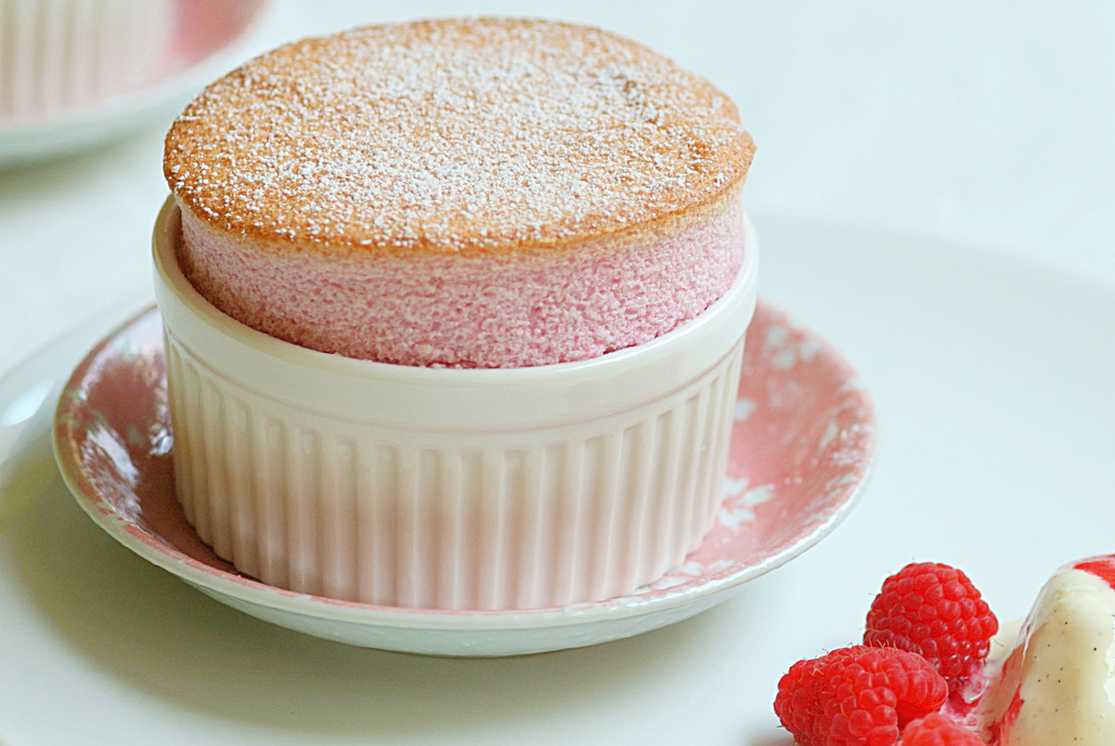 Raspberry Rose Soufflé