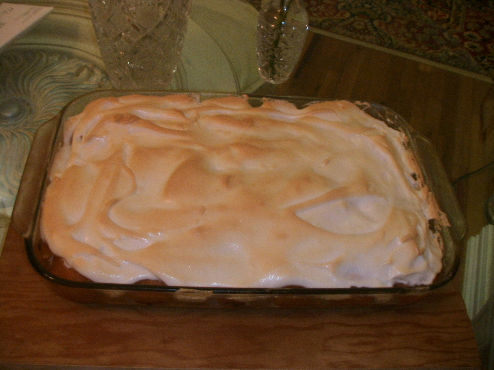 Apricots with Hidden Raspberries Meringue Pie.