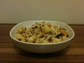 Israeli couscous with roasted cauliflower