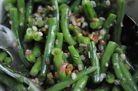 Green Bean, Wheatberry and Barley Salad