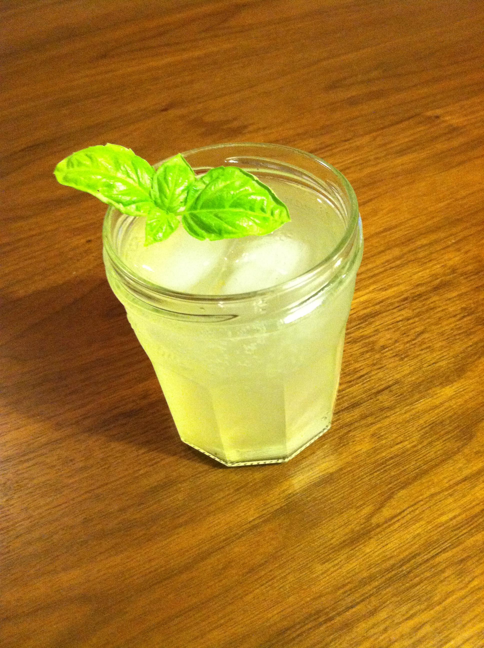 Lemon, Ginger, Basil Cooler