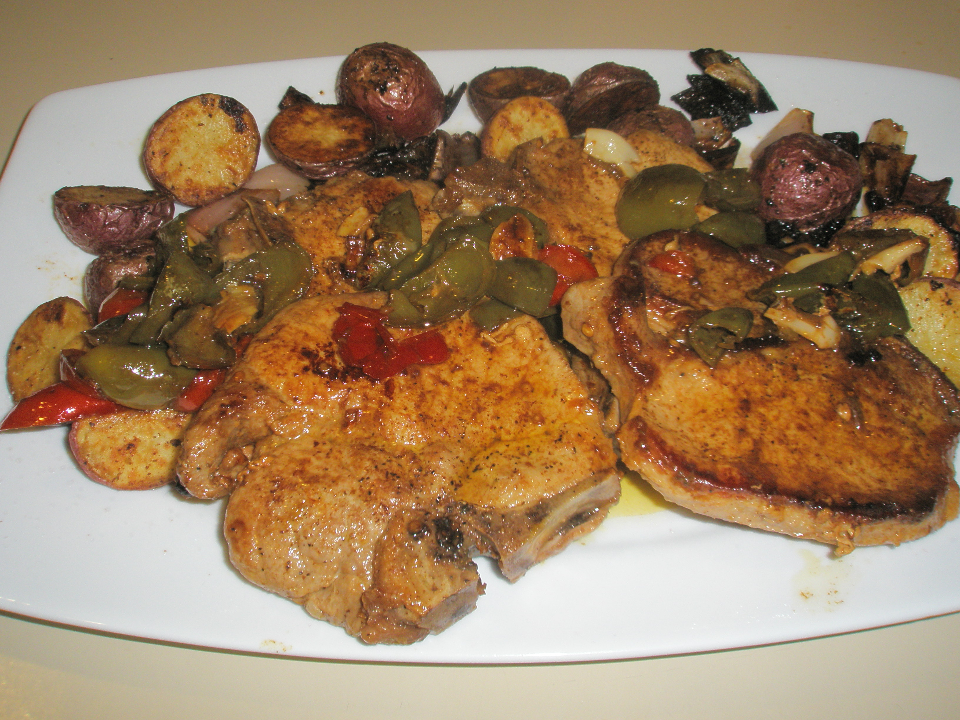 Pork Chops and Vinegar Peppers