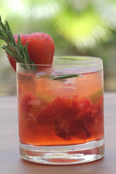 Strawberry Rosemary Mojito