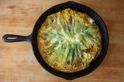 Squash Blossom Frittata