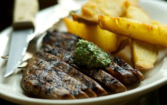 Classic London Broil with a Twist of St. John&#x27;s &amp; Cottage Fries