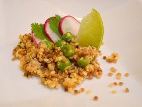 Stellini 'Upma' with Roasted Cauliflower couscous