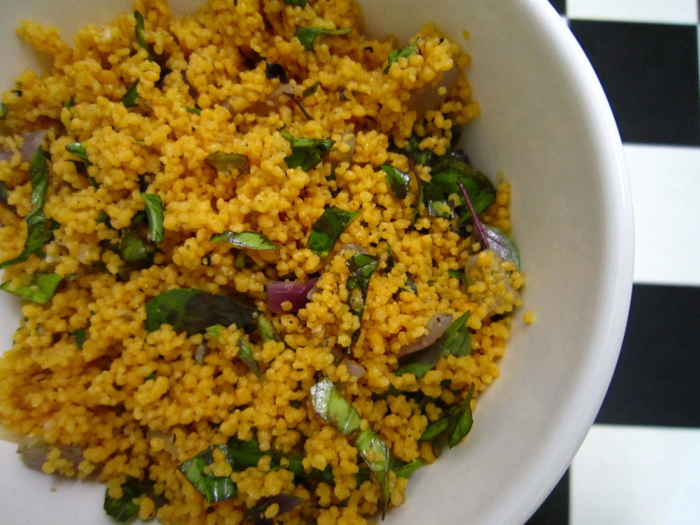 Tomato Couscous with Basil