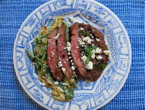 Carne Asada con Rajas