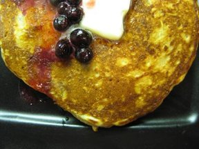 Orange Oatmeal-Yogurt Pancakes with Huckleberries