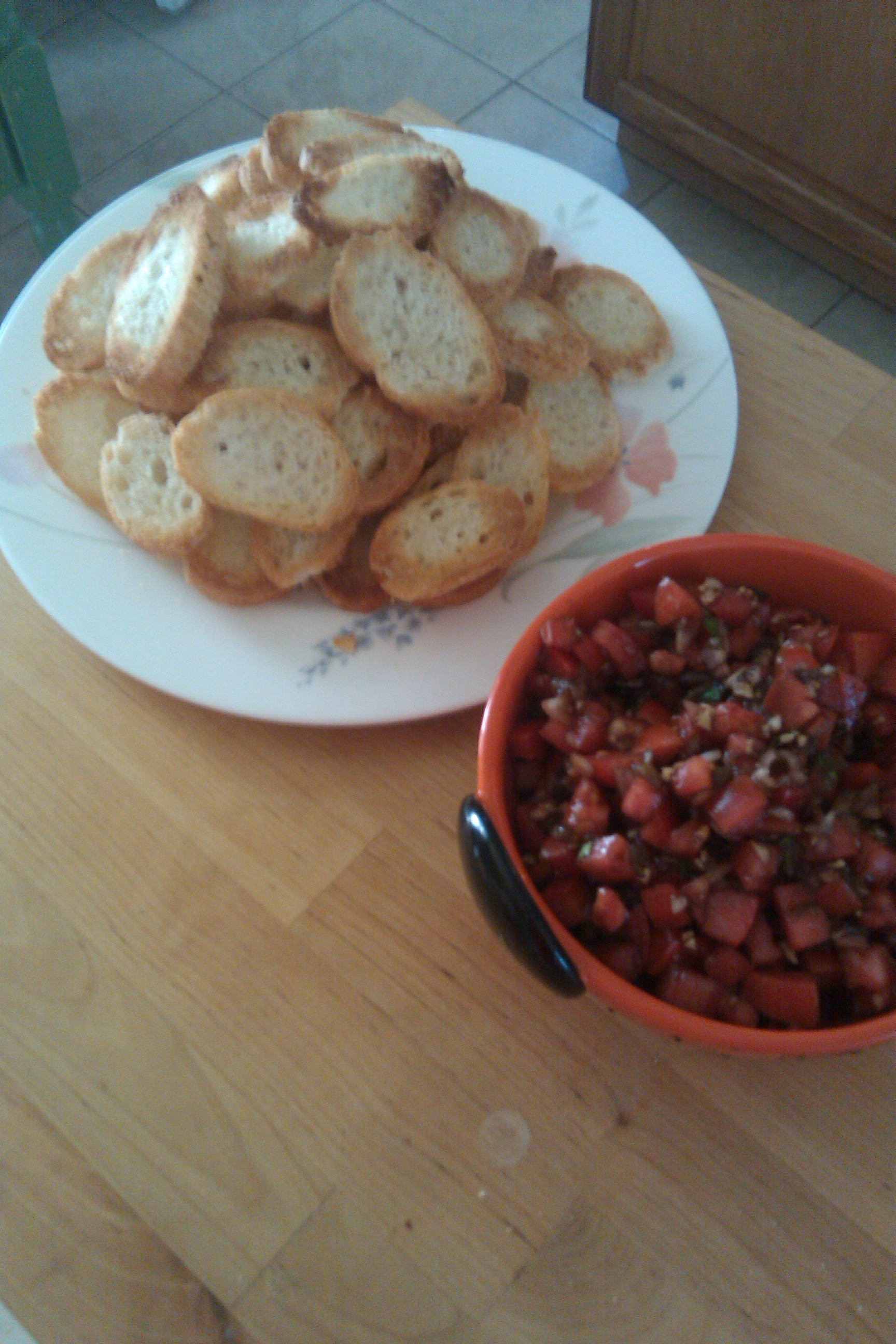 Green Chili Bruschetta