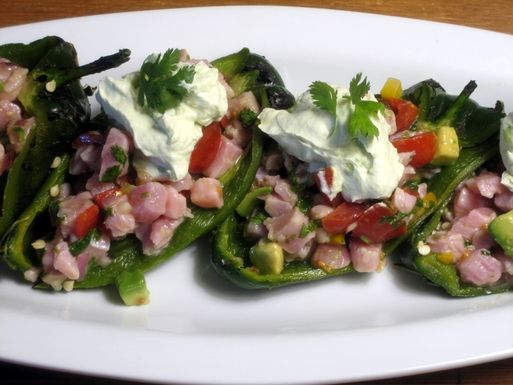 Tuna_ceviche_chile_rellenos_with_avocado_cream