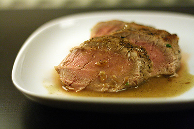 Pork tenderloin with ginger cider sauce