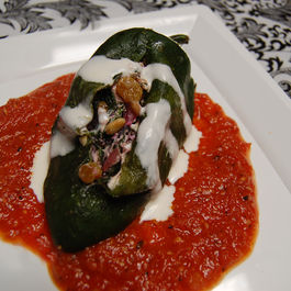 Cheese stuffed veggies or pasta