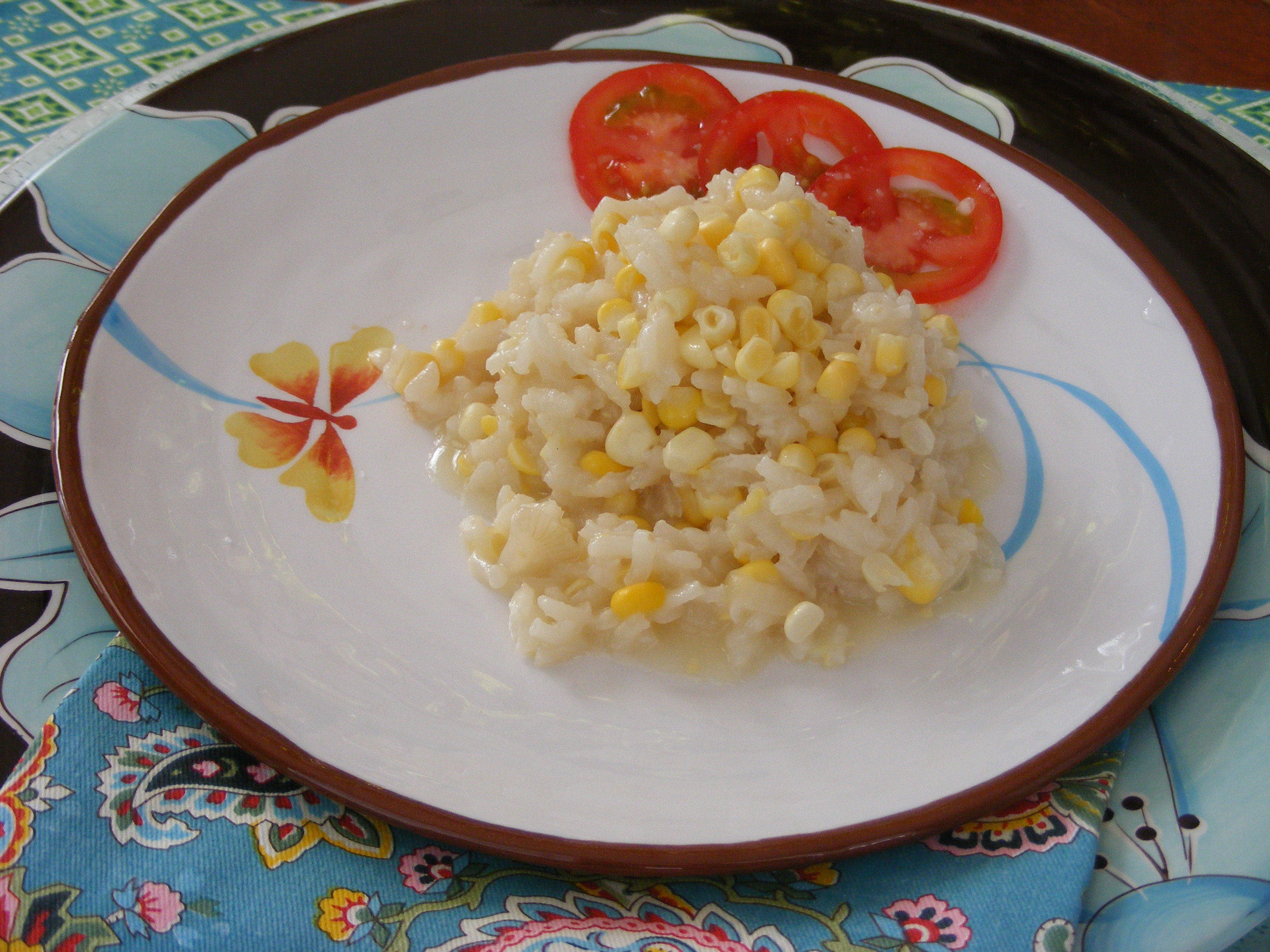 Summer Corn Risotto in Sweet Corn Broth