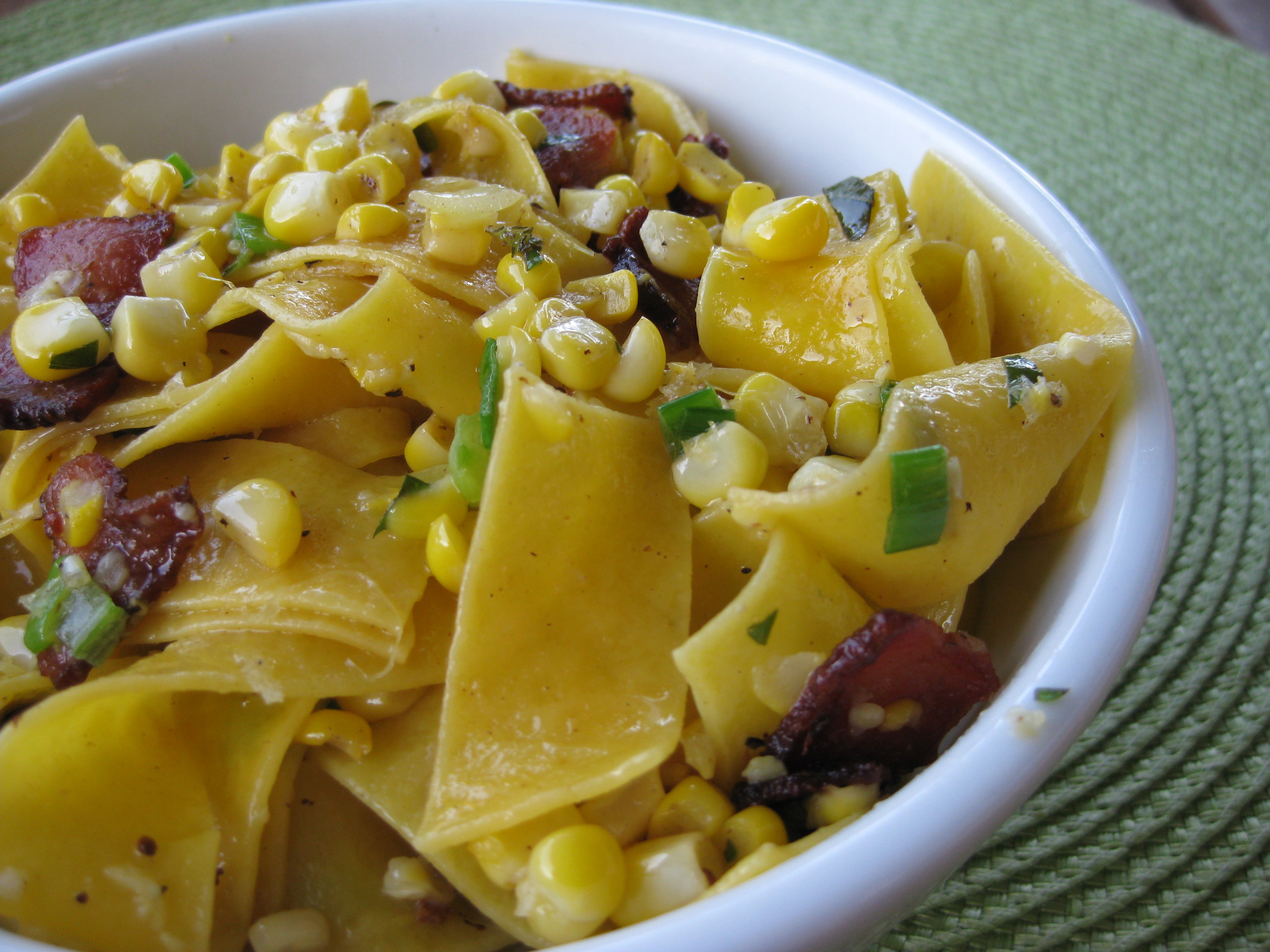 Buttered Corn And Noodles