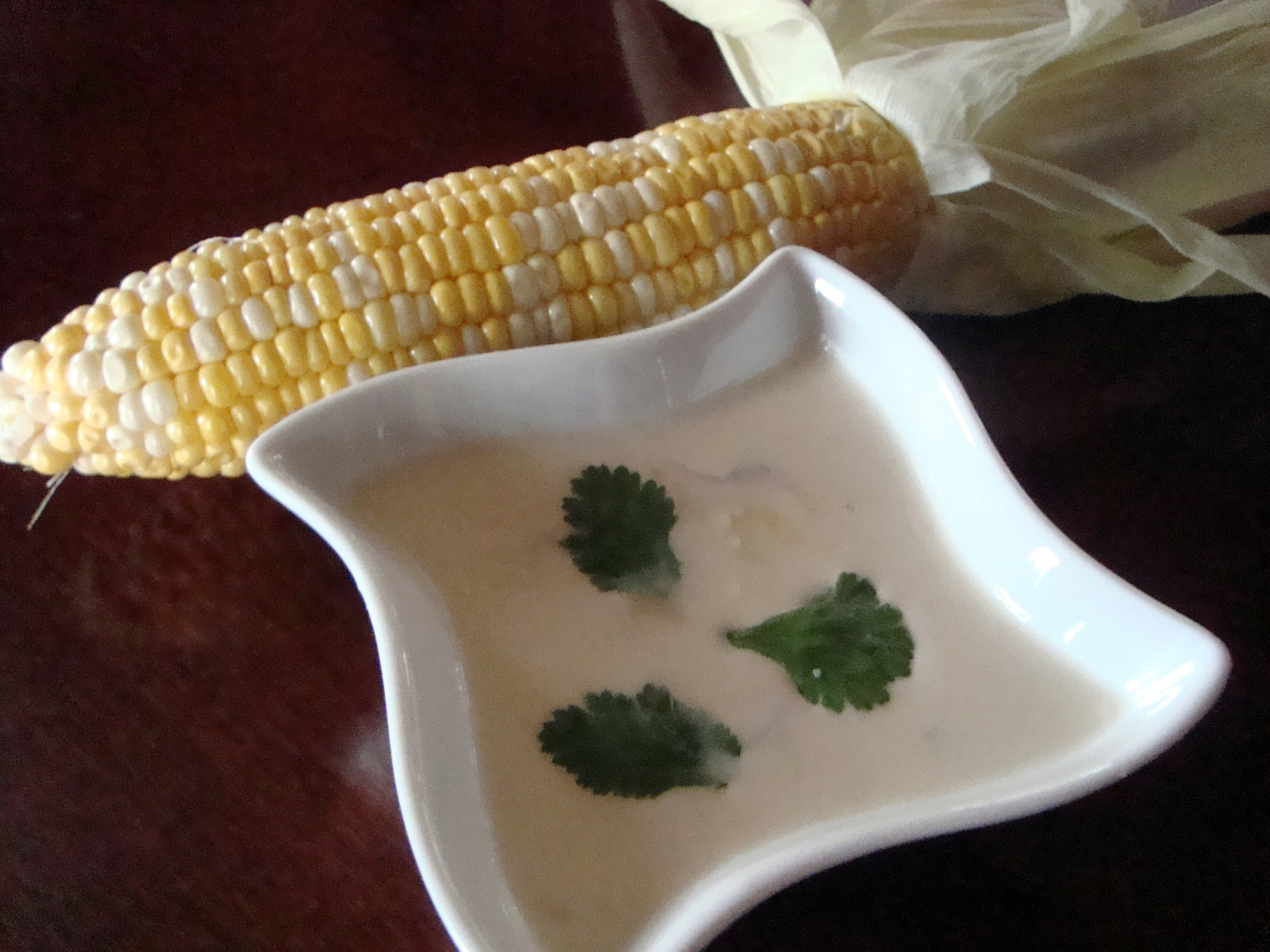 Sweet Chili and Coconut Corn Soup