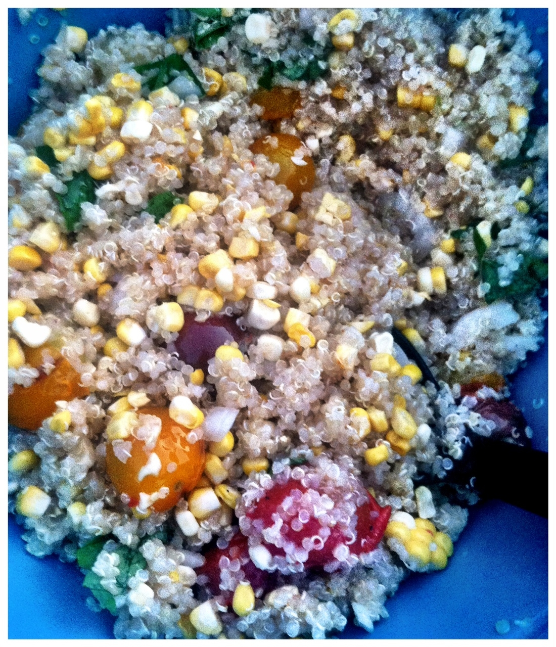 Grilled Corn and Cherry Tomato Quinoa