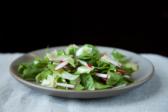 Radish and Escarole Salad with Anchovy Vinaigrette