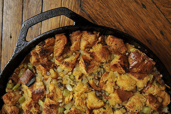 What We Call Stuffing: Challah, Mushroom, and Celery