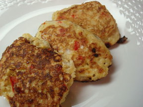 Tender Corn Cakes, Creamy, Savory and Sharp