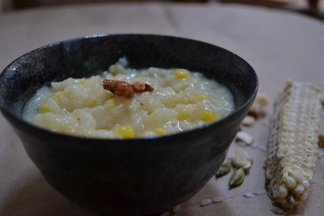 Sweet Corn &amp; rice pudding
