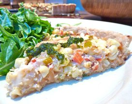 Corn and Caramelized Onion Tart