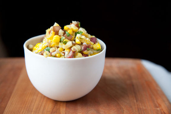Corn Salad with Cilantro &amp; Caramelized Onions