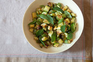 Zucchini with Basil, Mint, and Honey