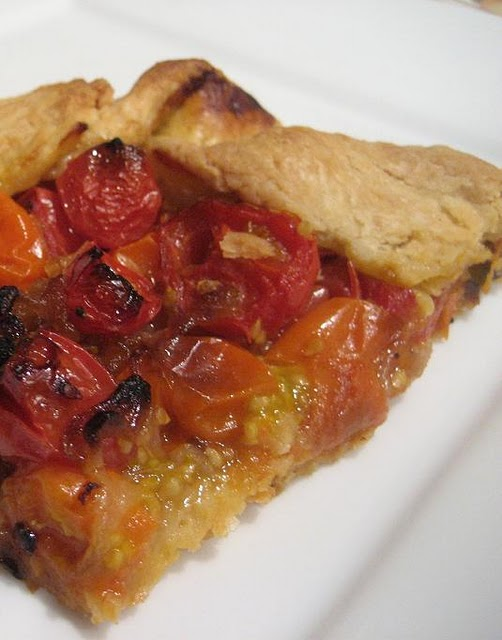 Caramelized Shallot and Cherry Tomato Galette