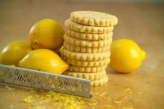 IRISH BUTTER SHORTBREADS WITH LEMON ZEST