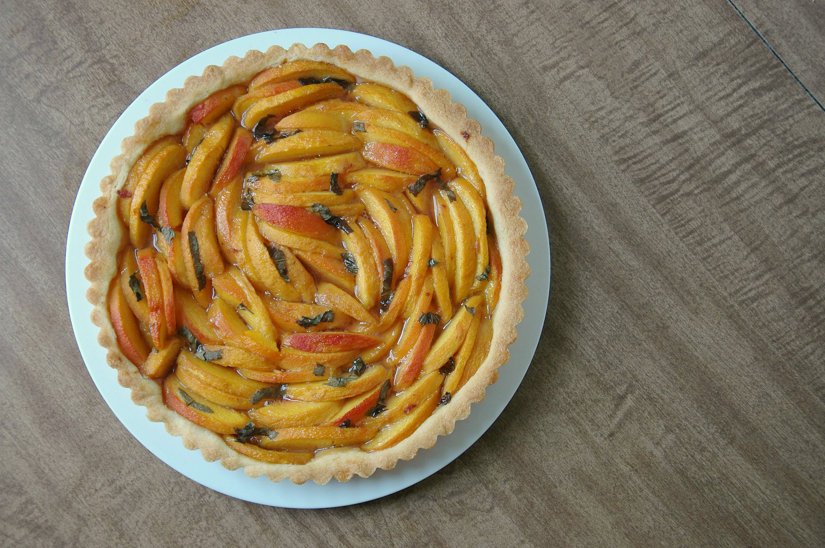 Peach Basil Tart
