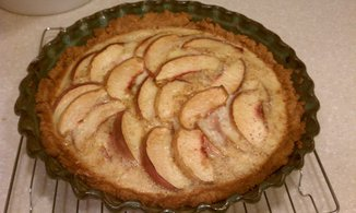 Spicy Peaches and Cream Custard Tart with a Genius Crust