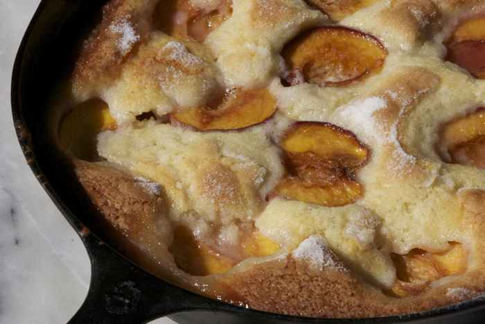 Peach Skillet Tart