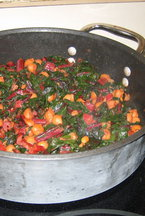 Savory Swiss Chard with Chickpeas