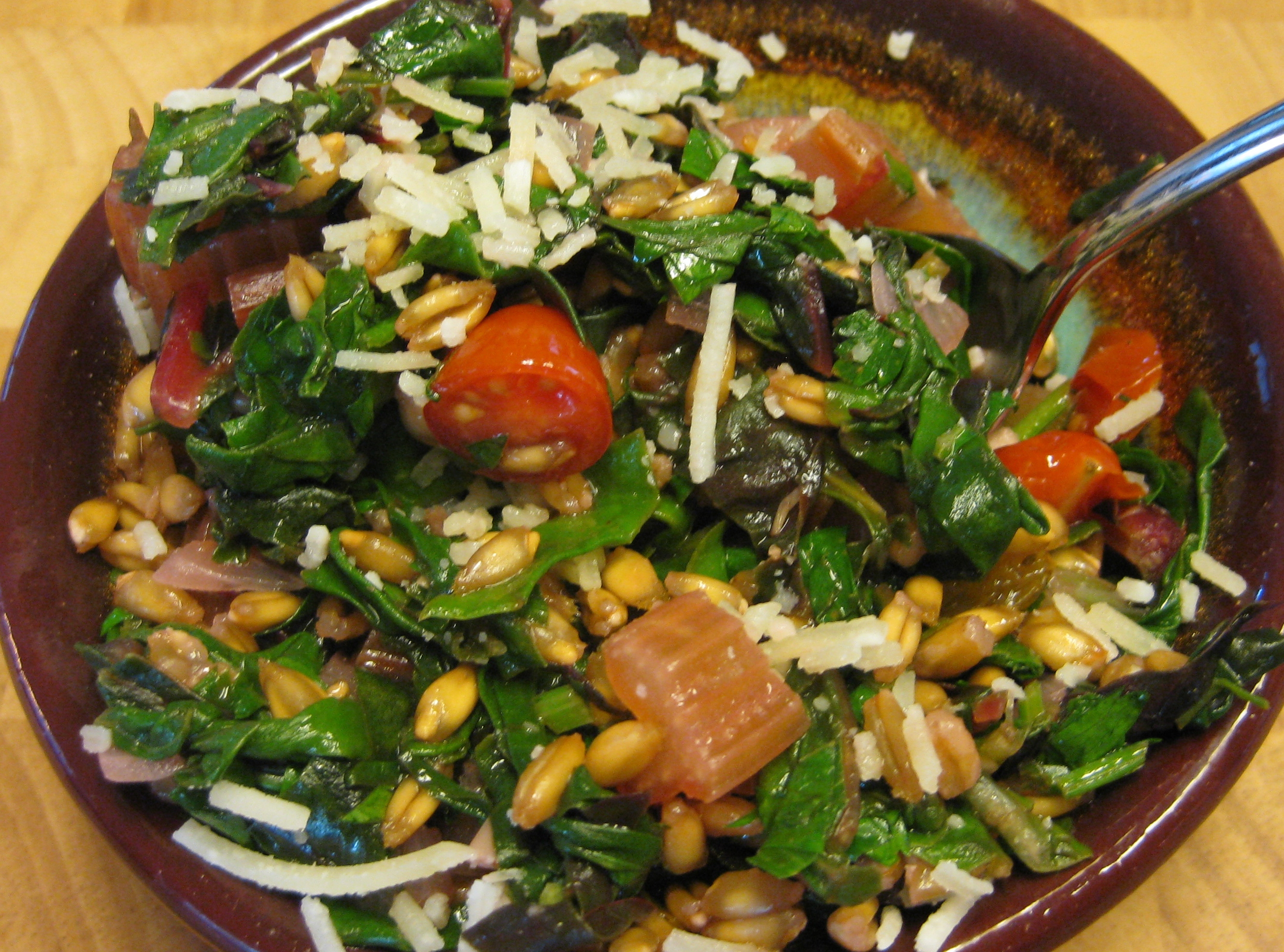 Warm Chard And Farro