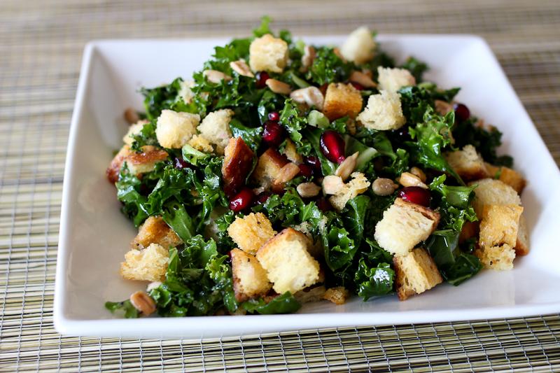 Kale bread salad with lemon poppy seed vinaigrette Recipe on Food52