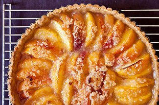 Peach  and ginger tart