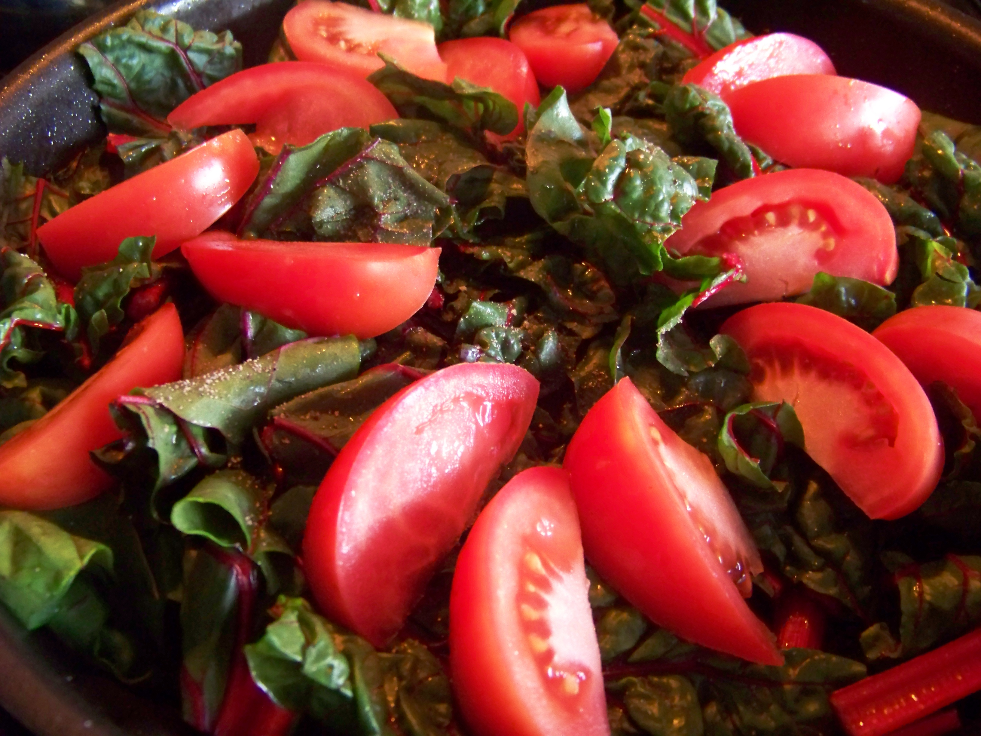 Baconized Swiss Chard