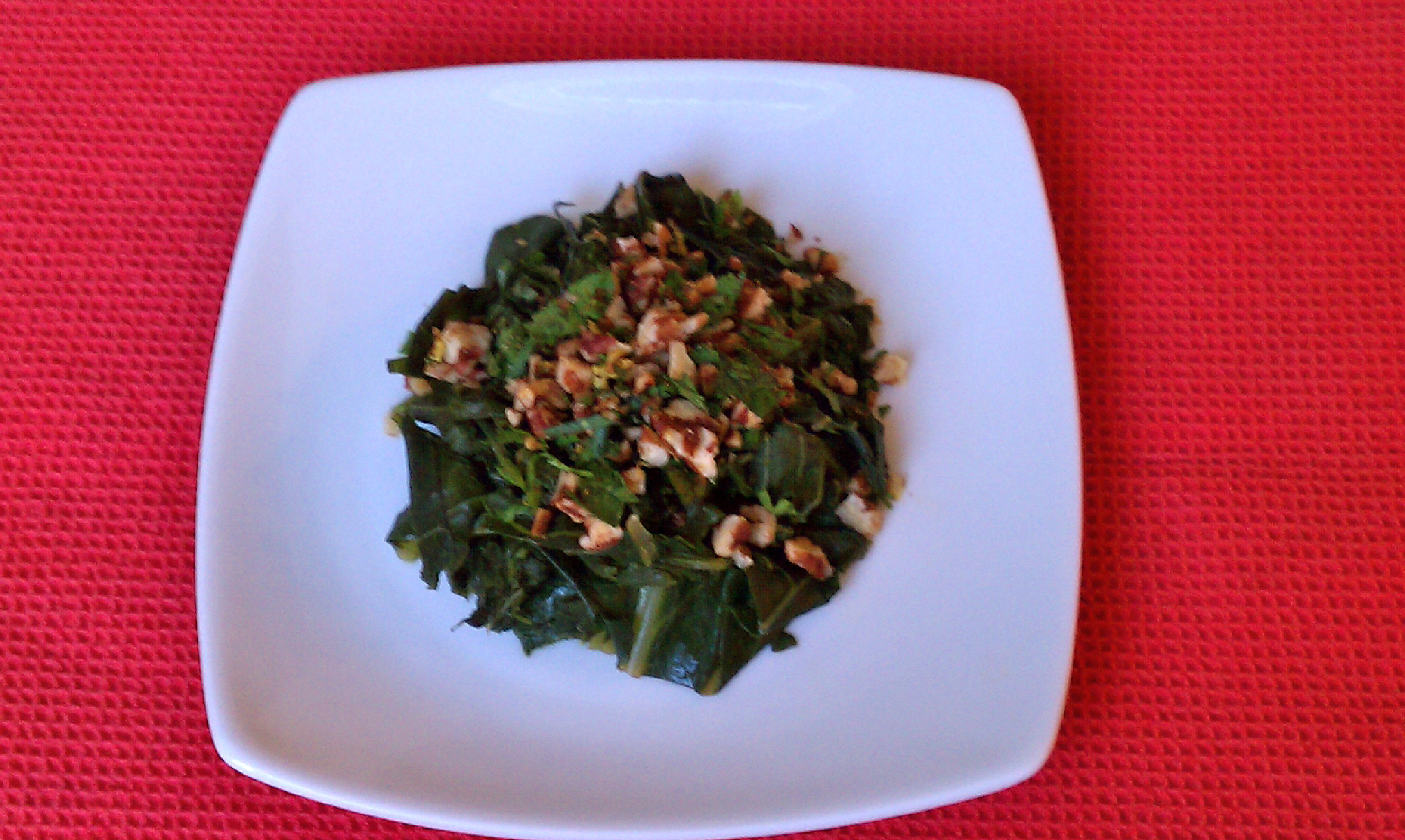 Vegetarian Greens with Pecan Gremolata