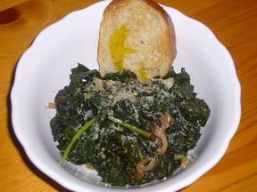 Quick-Braised Kale with Shallots & Gouda