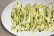 Patricia Wells&#x27; Zucchini Carpaccio with Avocado and Pistachios