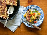 Frittata with Bread and Cherry Tomatoes