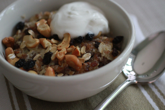 Bhutanese Red Rice, Millet, and Oat Breakfast Pudding