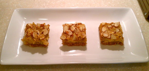 Pear Almond Shortbread Bars