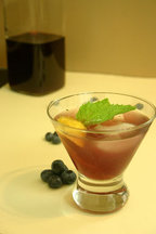Blueberry Liquor & Blueberry Smash