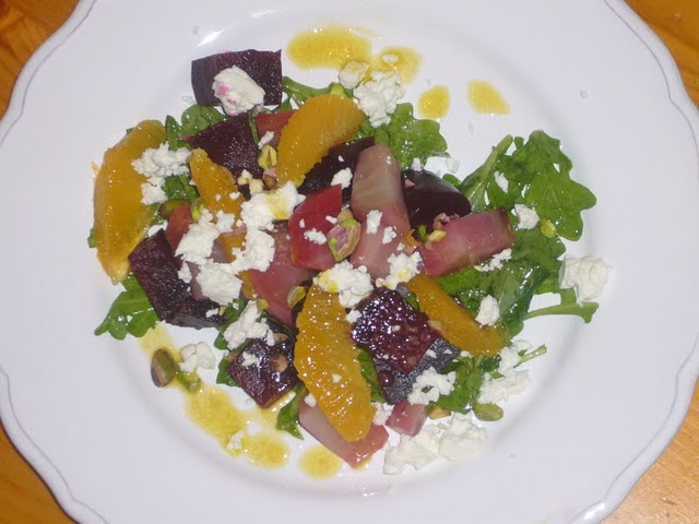 Roasted Beet, Orange, &amp; Goat Cheese Salad