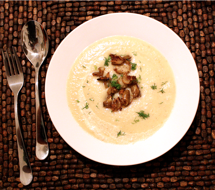 Celeraic Soup with Sunchoke &quot;Croutons&quot;