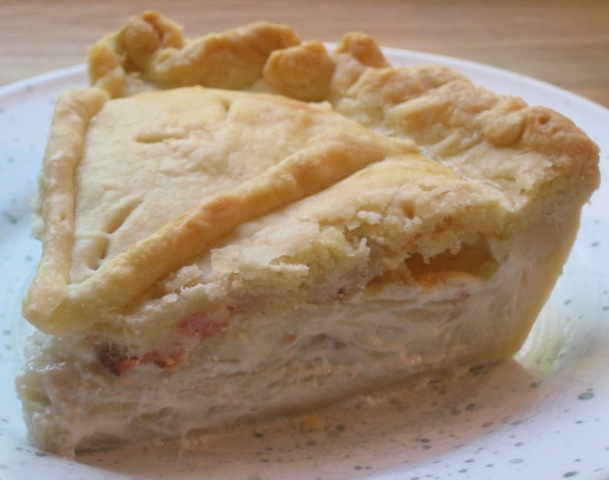 Kohlrabi-Bacon Pie